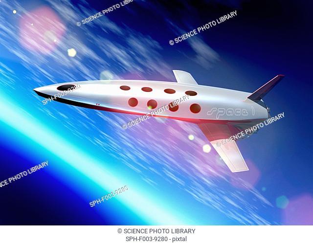 Space tourism, computer artwork