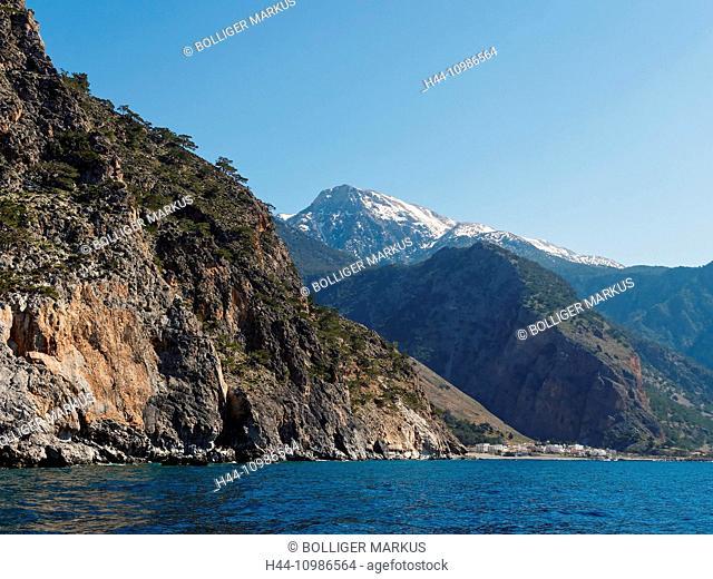 Agia Roumeli on Crete south coast