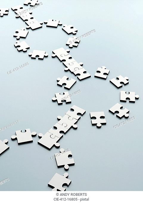 Connecting jigsaw pieces