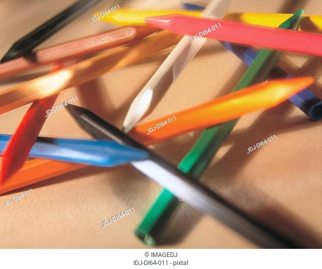 Close-up of color pen
