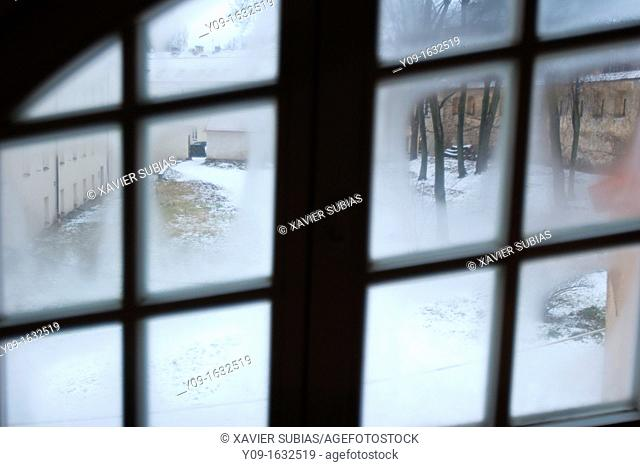 Snowy Garden From the window, Vilnius, Lithuania