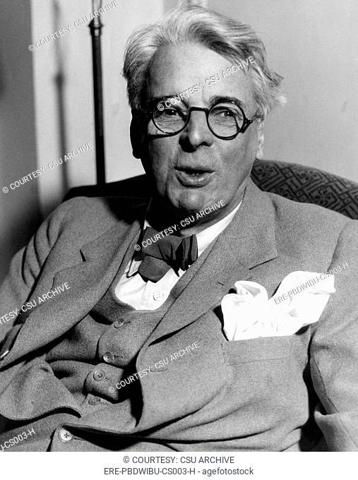 William Butler Yeats 1865-1939, Irish poet, circa 1930s. CSU Archives/Courtesy Everett Collection