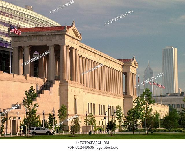 Chicago, IL, Illinois, Windy City, downtown skyline, Burnham Park, Soldier Field, NFL, Football, Chicago Bears