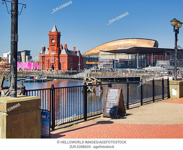 Cardiff bay architecture, cardiff, wales