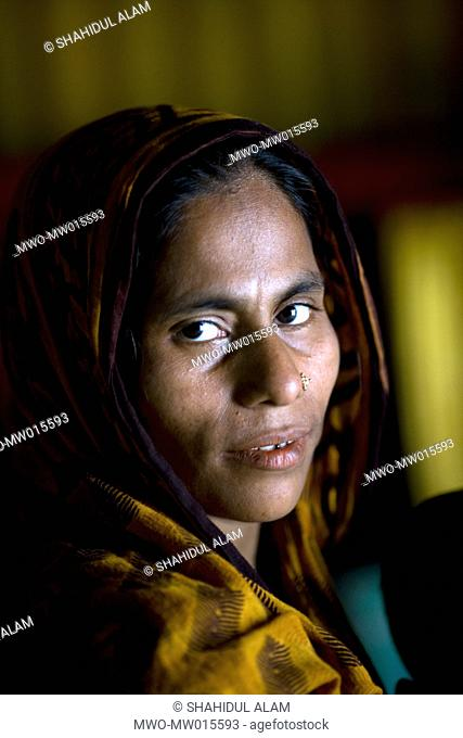 Kushum and her family from Morgapara, runs a fishing net business They make 2 nets per day and sell them weekly, in the markets in Imamganj and Mominpur Mother...