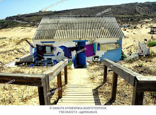 Europe, Portugal, Algarve, Faro district, Aljezur, house near Monte Clérigo beach, Praia do Monte Clérigo , Costa Vicentina, Soutwest Alentejo and St