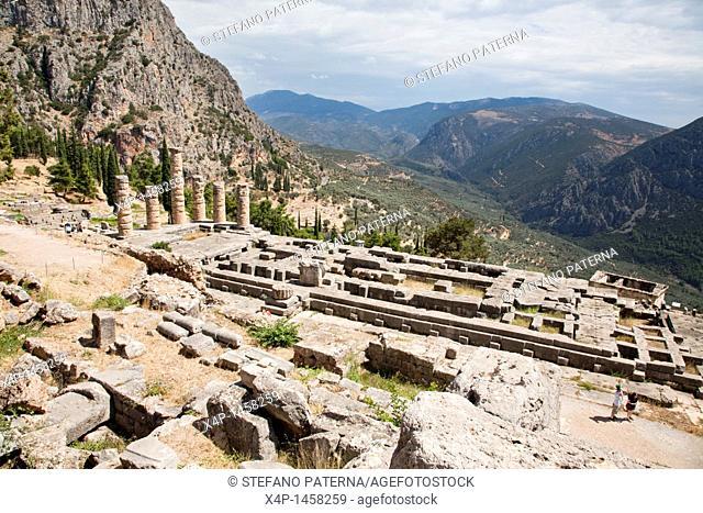 The Temple of Apollo, Delphi Greece