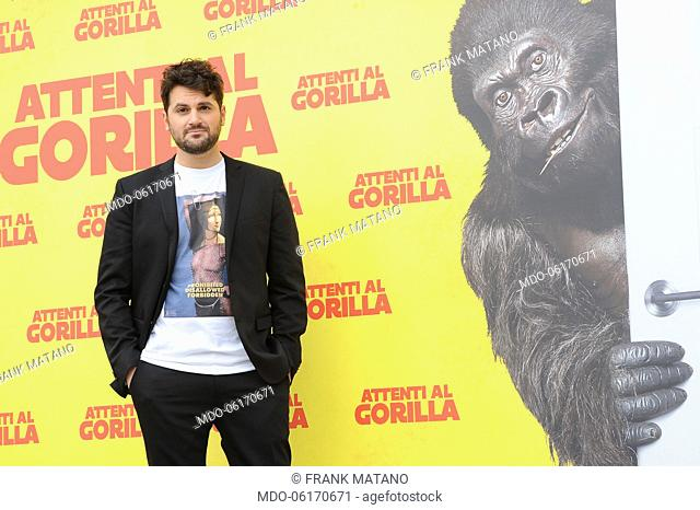 Italian actor Frank Matano during Attenti al Gorilla photocall at The Space Cinema Moderno. Rome, January 8th, 2019