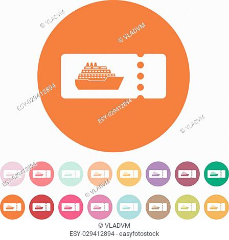 Cruise ship boarding pass design template Stock Photos and Images