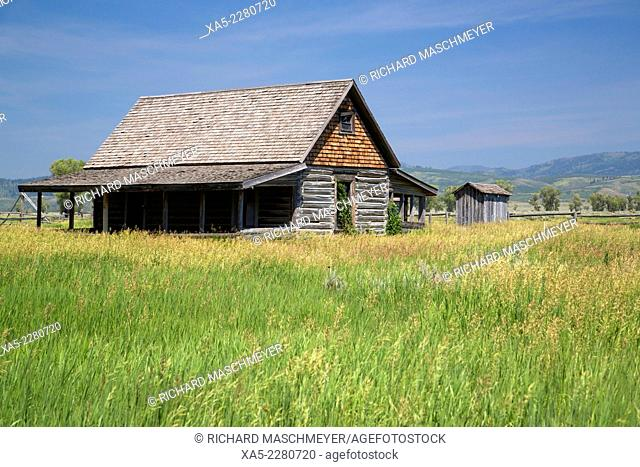 Andy Chambers Homestead, dates from 1890's, residence, Morman Row, Grand Teton National Park, Wyoming, USA