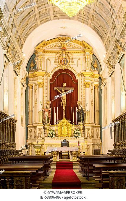 Pousada de Santa Marinha, interior of the church, Guimarães, Minho, Portugal