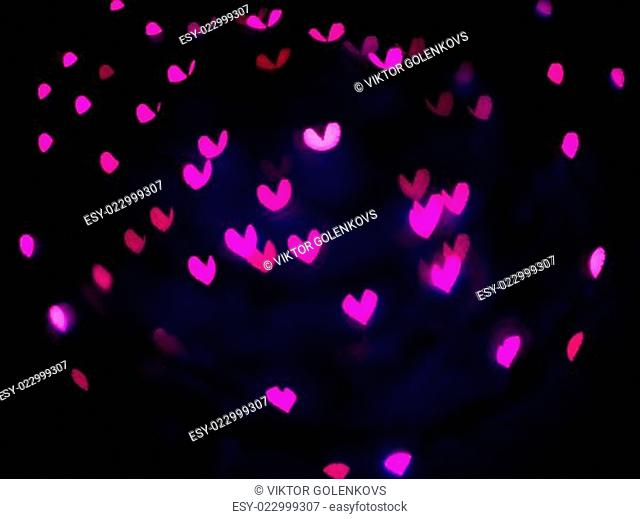 Heart bokeh background, Valentine's day