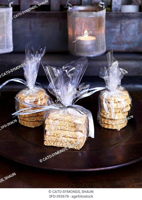 Home-made biscuits, gift wrapped