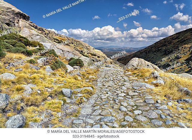 The Big Lagoon Path in the Sierra de Gredos. Avila. Spain