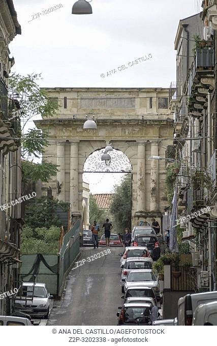 Citylife in Catania , Sicily, Italy