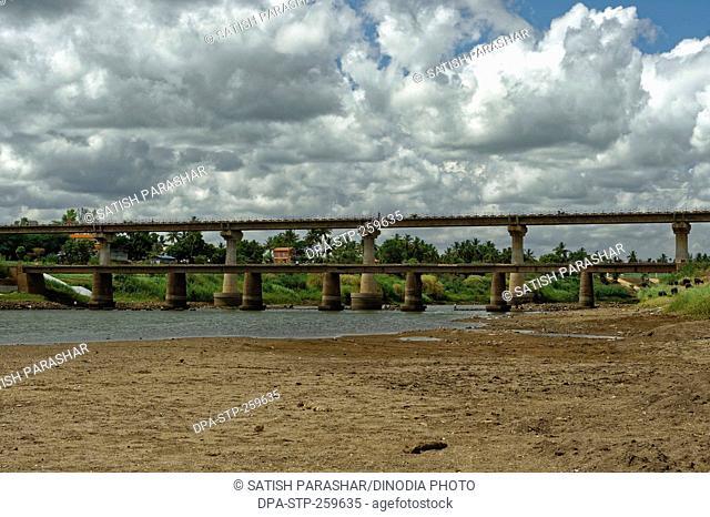bridge on Krishna river, kolhapur, Maharashtra, India, Asia