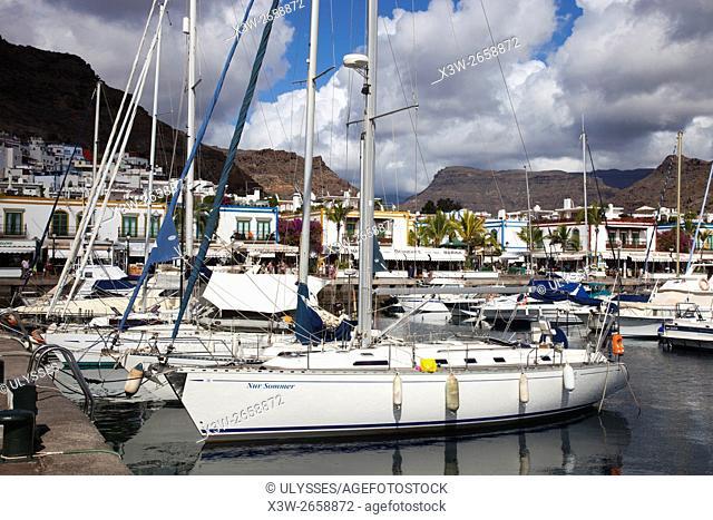 Puerto de Mogan, Gran Canaria island, Canary archipelago, Spain, Europe