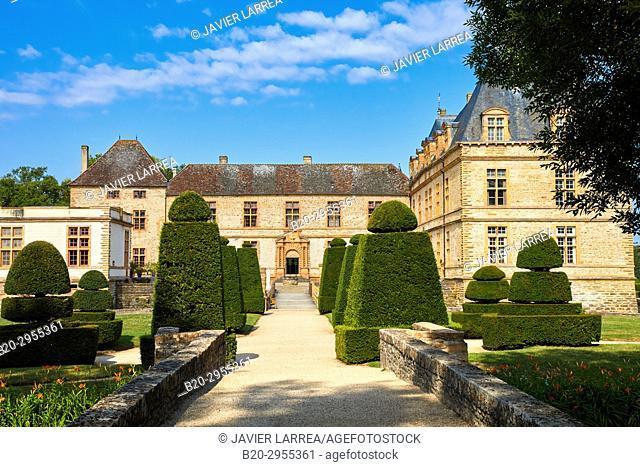 Castle of Cormatin, Saone-et-Loire Department, Burgundy Region, Maconnais Area, France, Europe