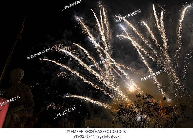 Fireworks. Fallas festival. València. Spain. 2019