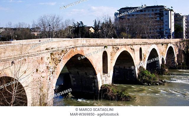 ponte milvio, rome, lazio, italy