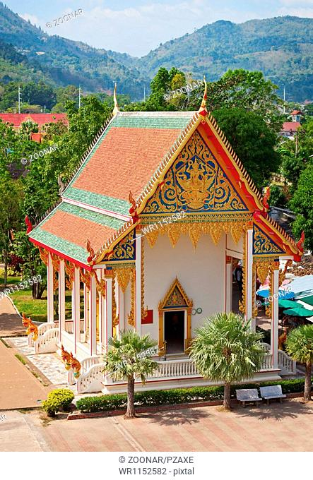 Old building - part of Buddhist temple complex. Thailand