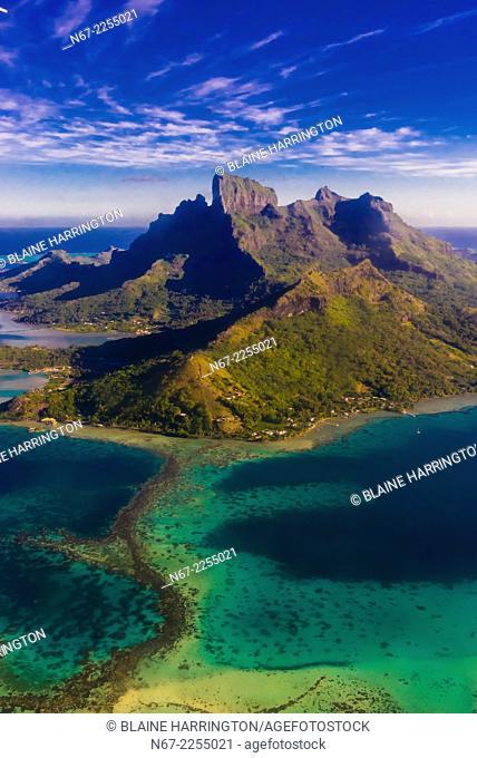 Aerial view of Bora Bora, French Polynesia