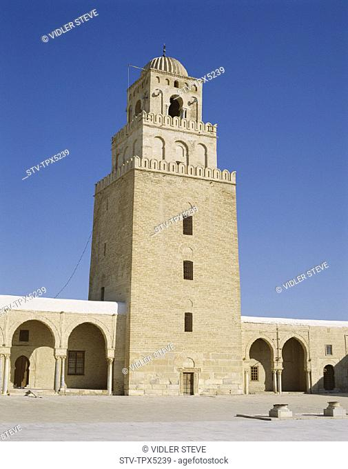 Great, Heritage, Holiday, Kairouan, Landmark, Mosque, Okba, Tourism, Travel, Tunisia, Africa, Unesco, Vacation, World