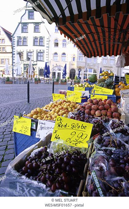 Erfurt, market at Domplatz, Thuringia, Germany