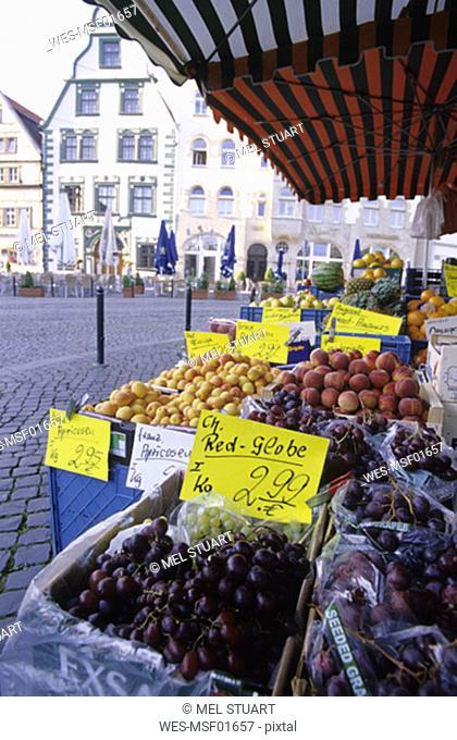 Erfurt, market at Domplatz, Thuringia, Germany