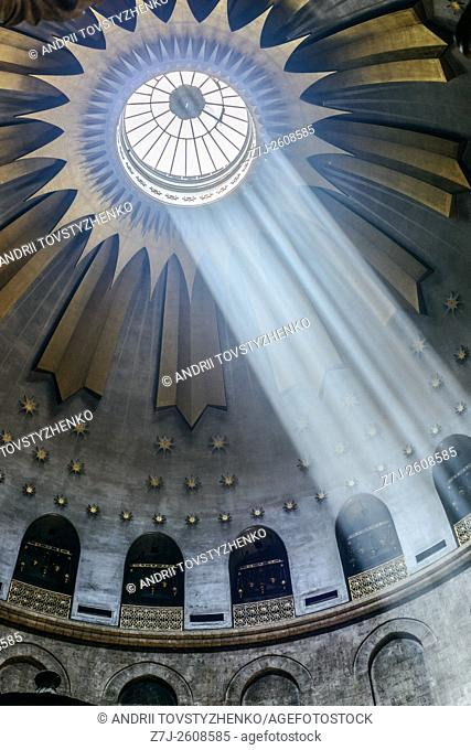 .The Church of the Holy sepulchre in Jerusalem