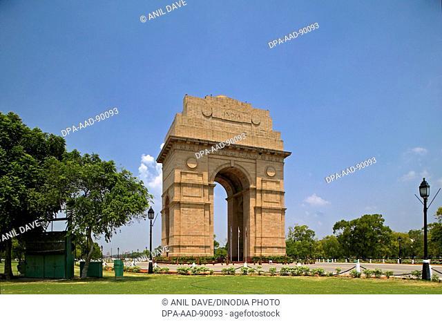 India gate, Architect Edwin Lutyens, New Delhi, India