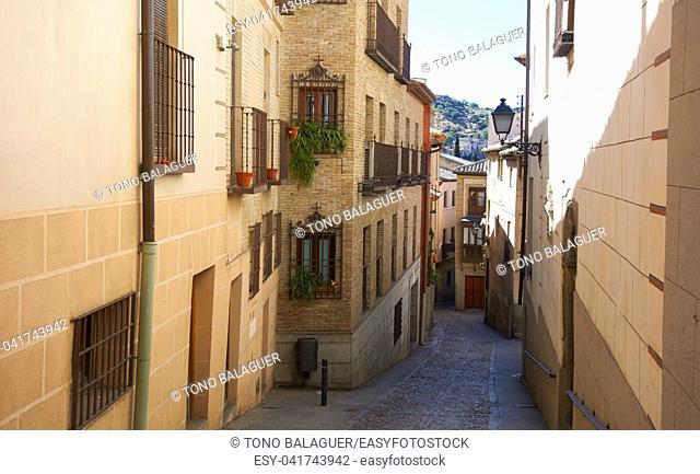 Toledo facades in Castile La Mancha of Spain