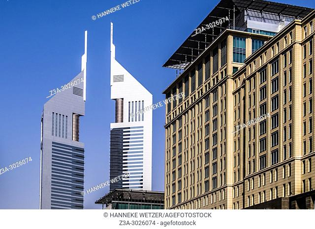 Jumeirah Emirates Towers and the Ritz Carlton Hotel at the WTC in Dubai, UAE