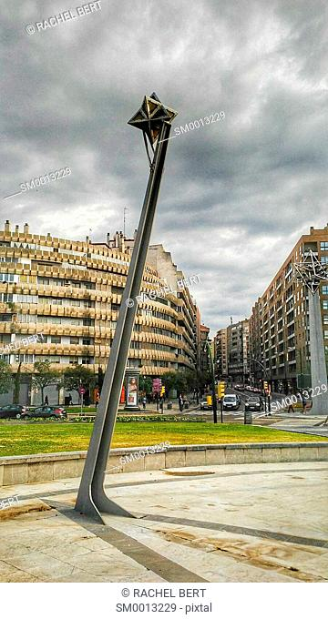 Europa Square lamps, Saragossa, Aragon, Spain