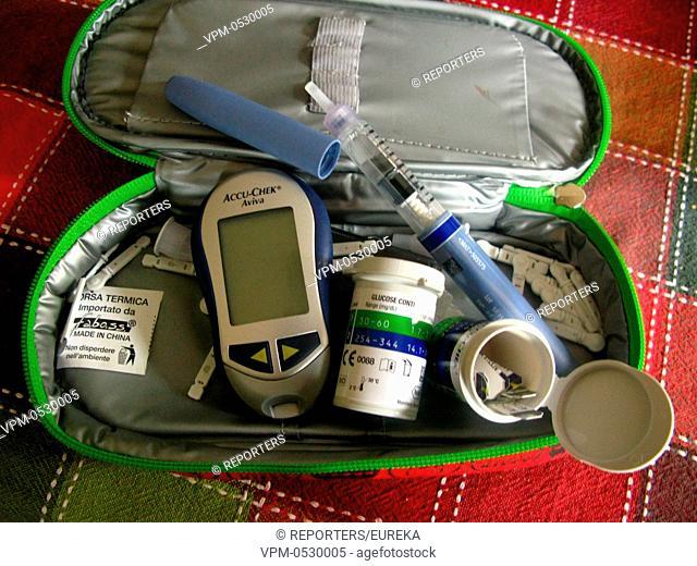 Diabetes,high blood sugar desease; Maladie a haute teneur en sucre dans le sang;hoge suiker gehalte in het bloed Reporters / EUREKA