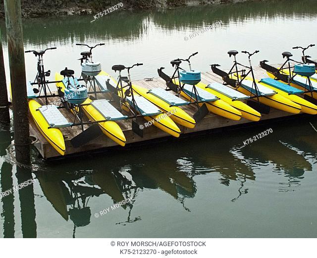 Waterbikes at dock