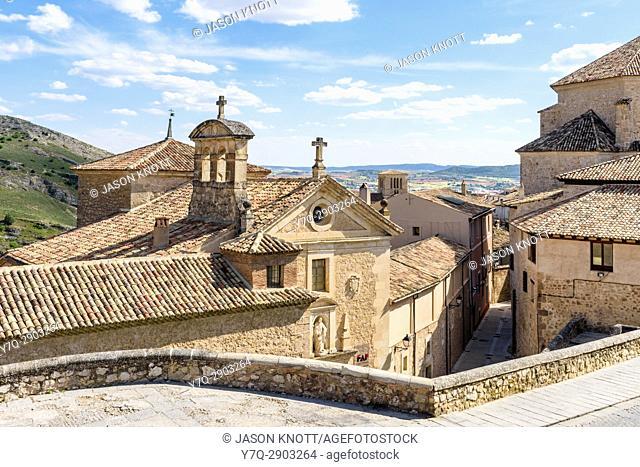Cuenca old town views over the Convento de las Carmelitas Descalzas, Cuenca, Castilla-La Mancha, Spain