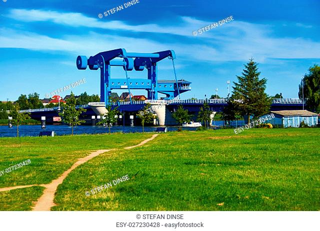 blue river bridge to isle of Usedom