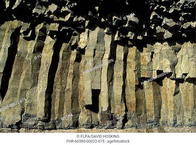 Rocks Basalt Basalt Columns formed by cooling lava