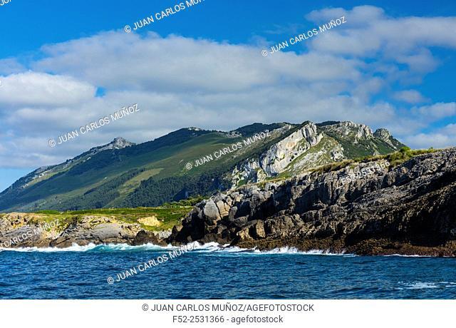 "Cantabrian Coast in Sonabia, Oriñon and Islares, """"Montaña Oriental Costera"""", Cantabrian Sea, Cantabria, Spain, Europe"