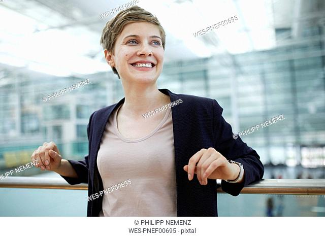 Portrait of blond businesswoman