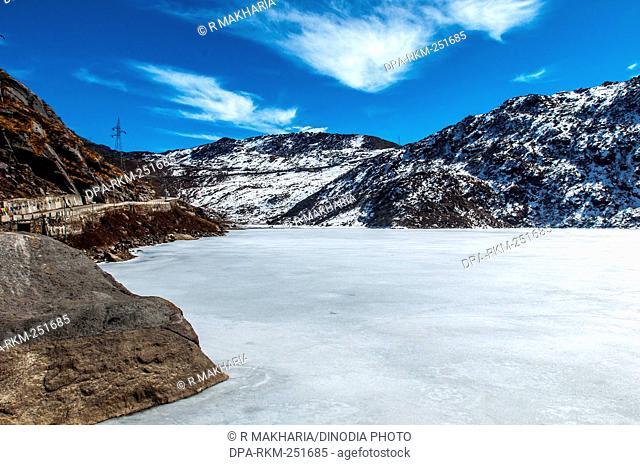 Frozen of changu lake, gangtok, sikkim, india, asia