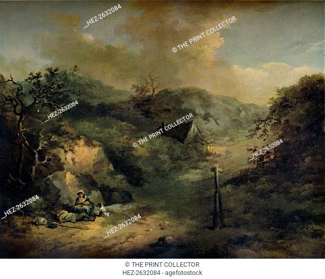'A Hillside with Tramps reposing', c1793. Artist: George Morland