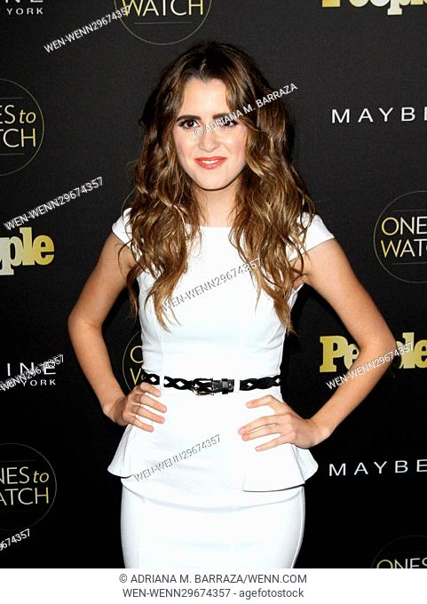 People's One's To Watch Event Celebrating Hollywood's Rising & Brightest Stars held at E.P. & L.P. in Los Angeles Featuring: Laura Marano Where: Los Angeles