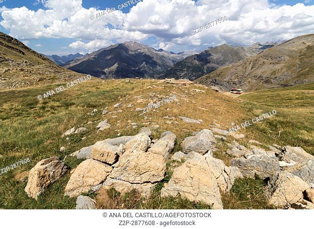 Asnos lake in Panticosa pistes summertime Huesca Aragon Spain