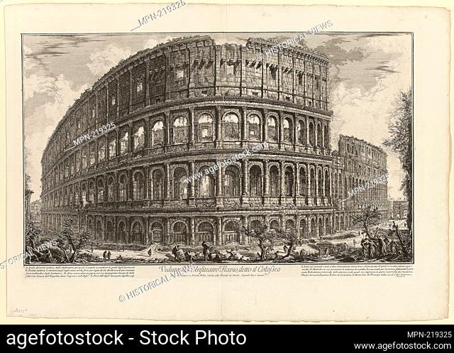 View of the Flavian Amphitheater, called the Colosseum, from Views of Rome - 1750/59 - Giovanni Battista Piranesi Italian