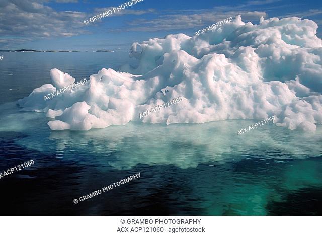 Floe ice on July 23, 2001 in Wager Bay, Ukkusiksalik National Park, Nunavut