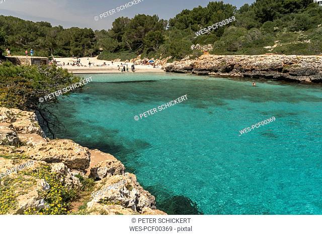 Spain, Balearic Islands, Mallorca, Felanitx, Cala Sa Nau