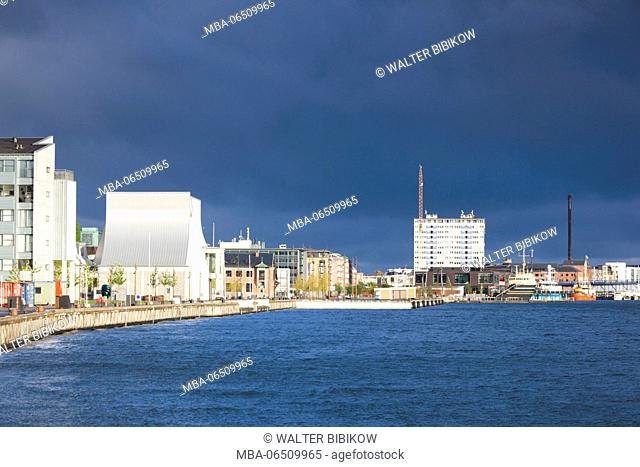 Denmark, Jutland, Aalborg, Utzon Center, designed by Danish Architect Jorn Utzon, designer of the Sydney Opera House
