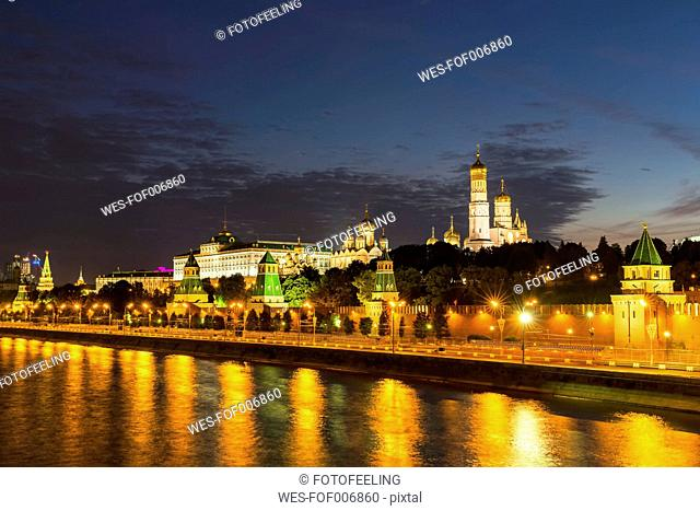 Russia, Moscow, Kremlin, Cathedrals of the Archangel and the Annunciation